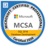 MCSA SQL 2016 Database Development