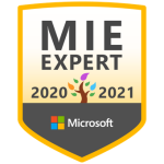 Microsoft Innovative Educator Expert 2020-2021